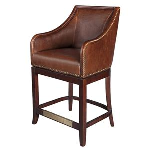 Belfort Leather Manchester Swivel Counter Stool