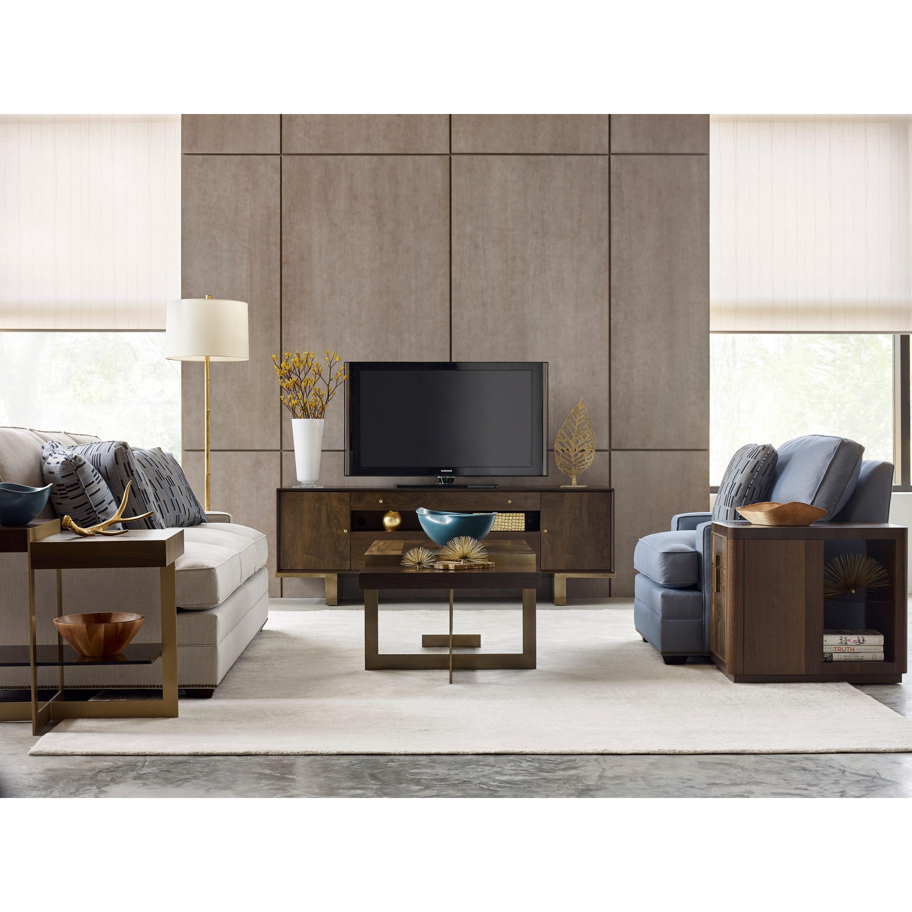 Conrad Entertainment Console with Outlet by American Drew