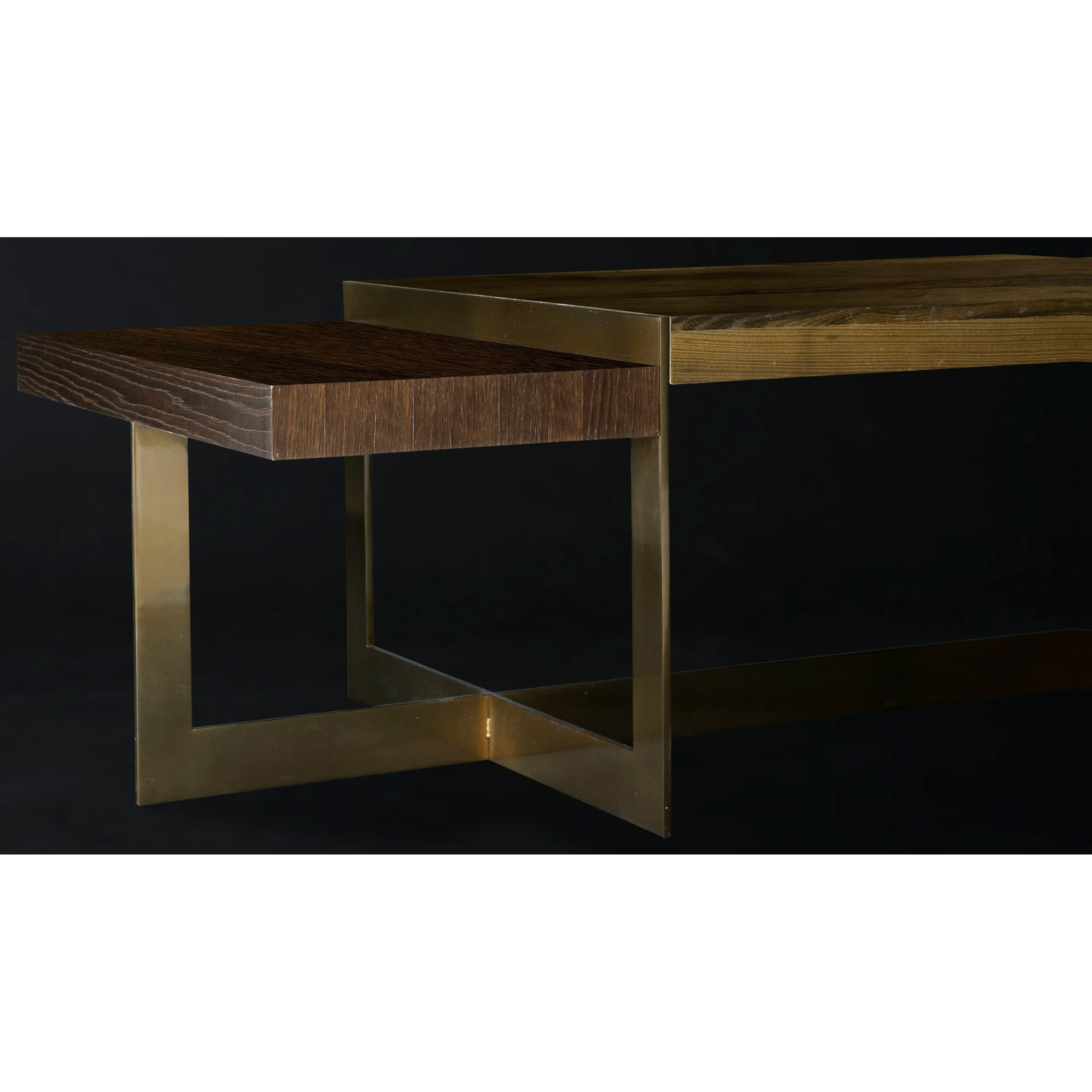 American Drew Coffee Table Ogden Rectangular Cocktail Table With Brass Base By American Drew