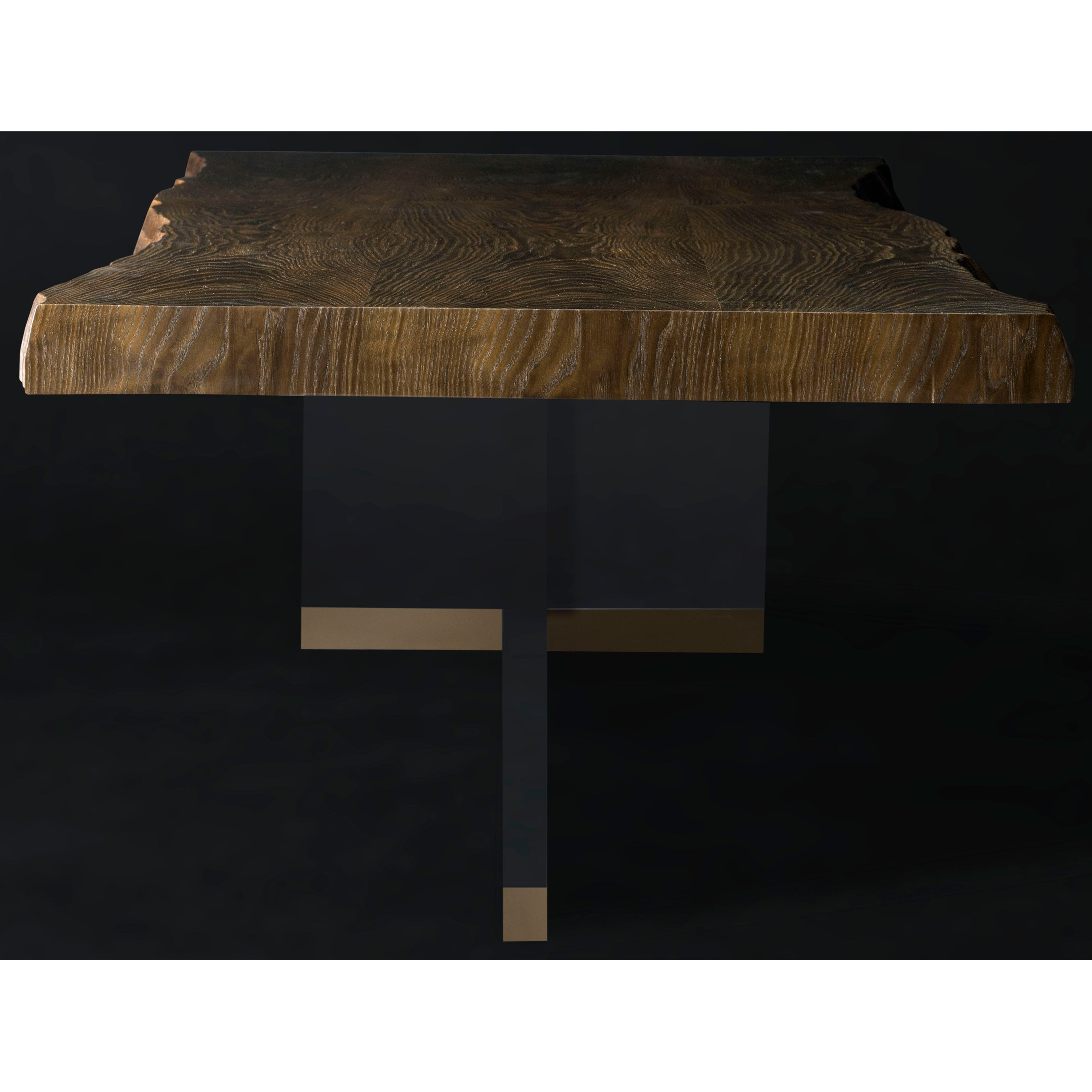 American Drew Coffee Table Brevard Live Edge Cocktail Table With Acrylic Base By American