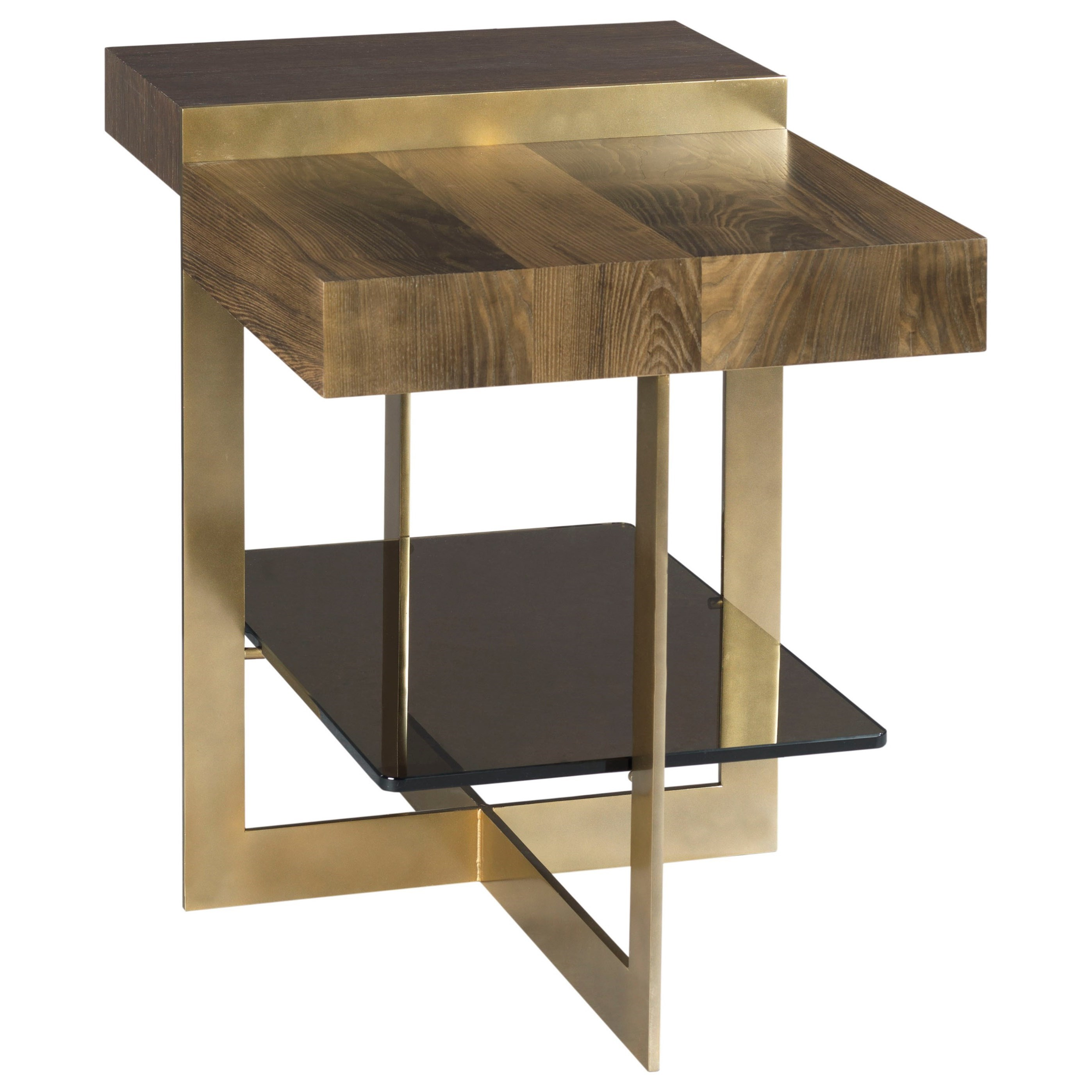 Winkler End Table with Tempered Bronze Glass Shelf by American Drew ...
