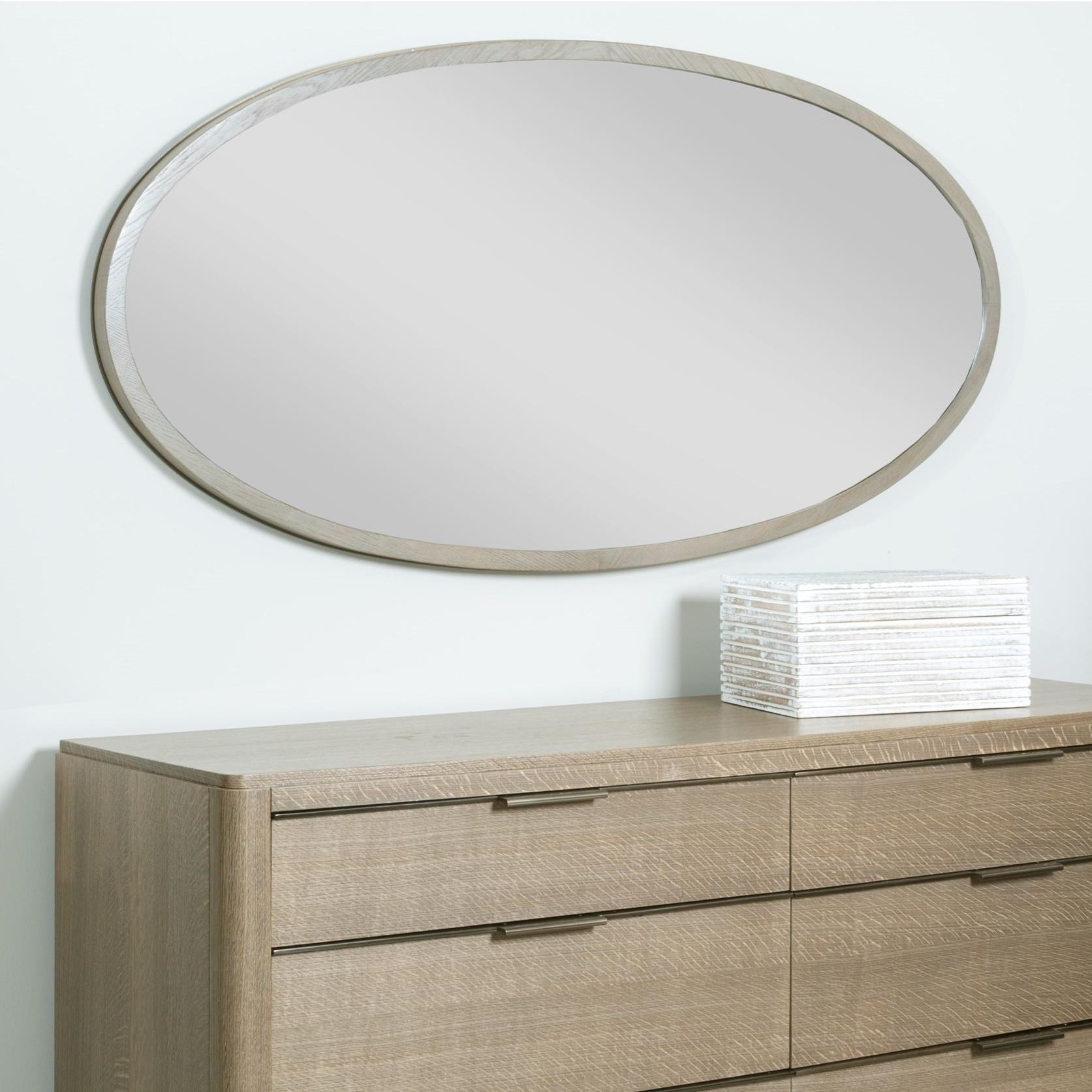 Ramsey Oval Mirror with Wood Frame by American Drew | Wolf and ...