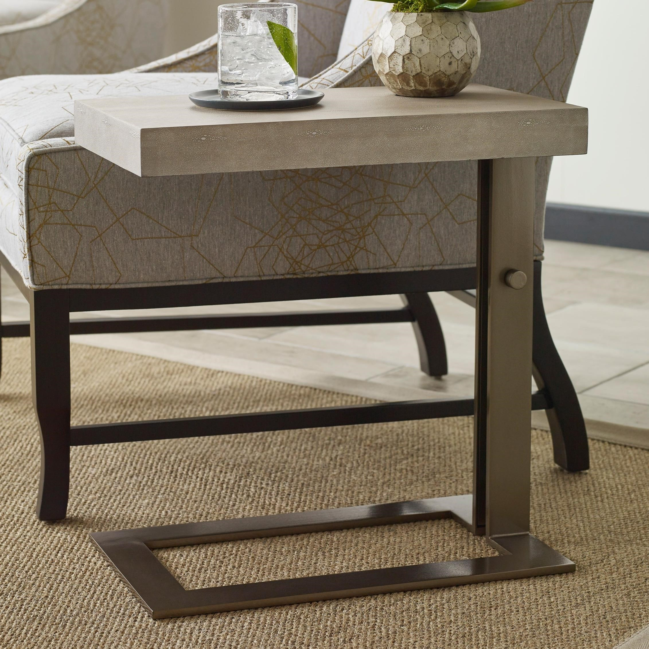 Blaine chairside table with adjustable base by american drew by american drew blaine chairside table with adjustable base geotapseo Gallery