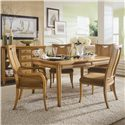 American Drew Antigua Splat Back Arm Chair - Arm Chair Shown with Table