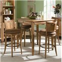 American Drew Antigua Round Bar Swivel Stool with Seat Back - Round Bar Stool Shown with Table