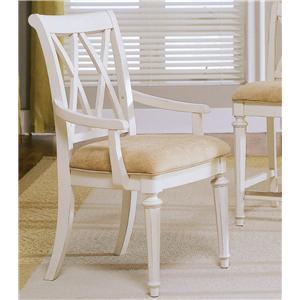 American Drew Camden - Light Splat Back Arm Chair