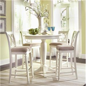 American Drew Camden - Light Bar Height Pedestal Table with Stools