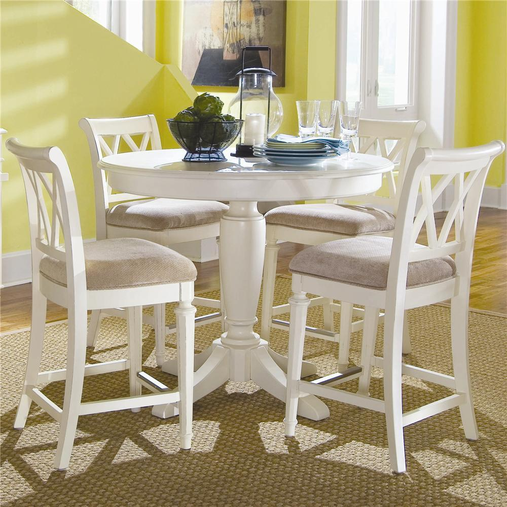 Charmant Round Counter Height Pedestal Table