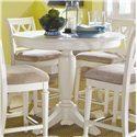 American Drew Camden - Light Round Counter Height Pedestal Table