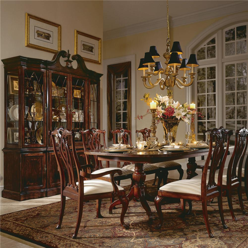 Piece double pedestal table dining set by american drew