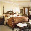 American Drew Cherry Grove 45th King Pediment Poster Bed - Item Number: 791-378R