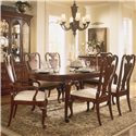 American Drew Cherry Grove 45th Side Chair with Splat Back - Shown with Oval Leg Table and Splat Back Arm Chair