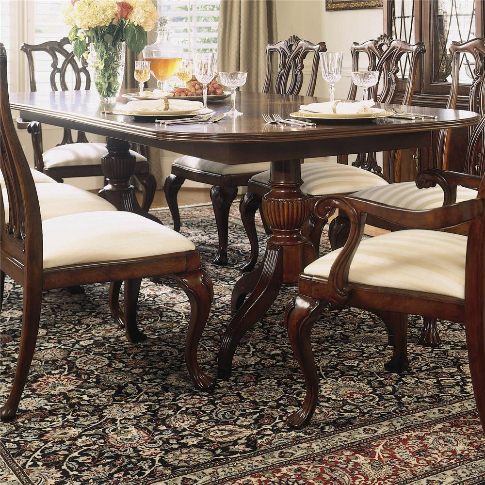 Double Pedestal Dining Table by American Drew | Wolf and Gardiner ...