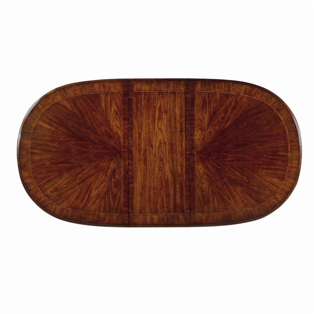 Traditional Oval Dining Table By American Drew Wolf And Gardiner - Traditional oval dining table