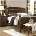 American Drew Cherry Grove King Poster Bed with Carved Detail - Side View