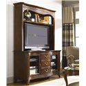 American Drew Cherry Grove Entertainment Console with 3 Drawers & 2 Doors - Shown with the coordinating Entertainment Hutch