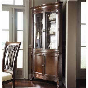 American Drew Cherry Grove Corner China Cabinet