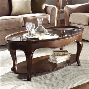 American Drew Cherry Grove Oval Cocktail Table