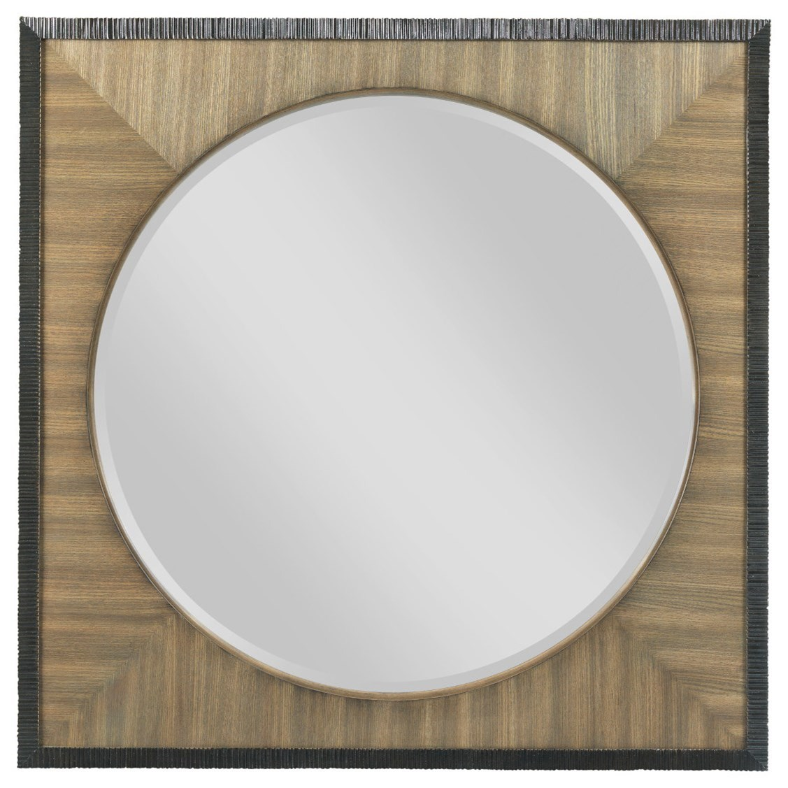 Round Mirror with Square Frame by American Drew | Wolf and Gardiner ...