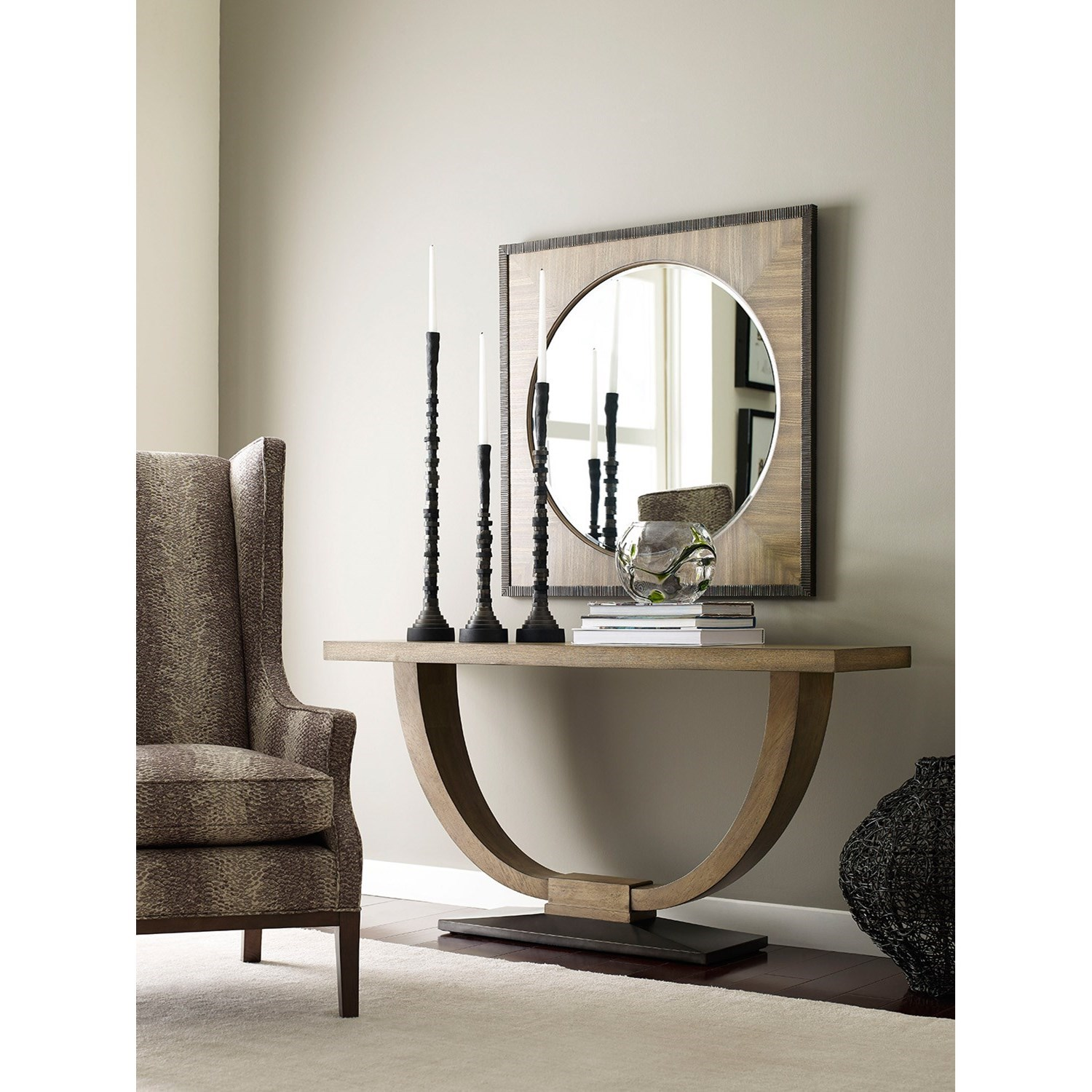 Sofa table with metal base by american drew wolf and gardiner sofa table with metal base geotapseo Images
