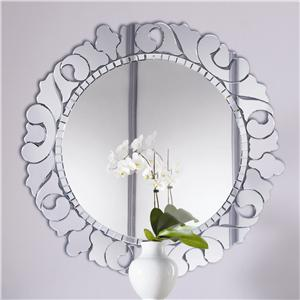 American Drew Jessica McClintock Couture Round Venetian Mirror