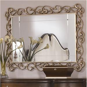American Drew Jessica McClintock Couture Accent Mirror-Silver Leaf