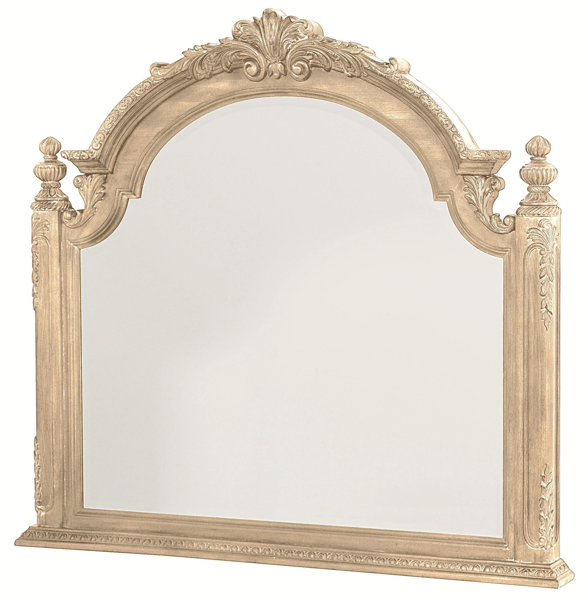 Landscape Mirror with Carved Pediment Top by American Drew | Wolf ...