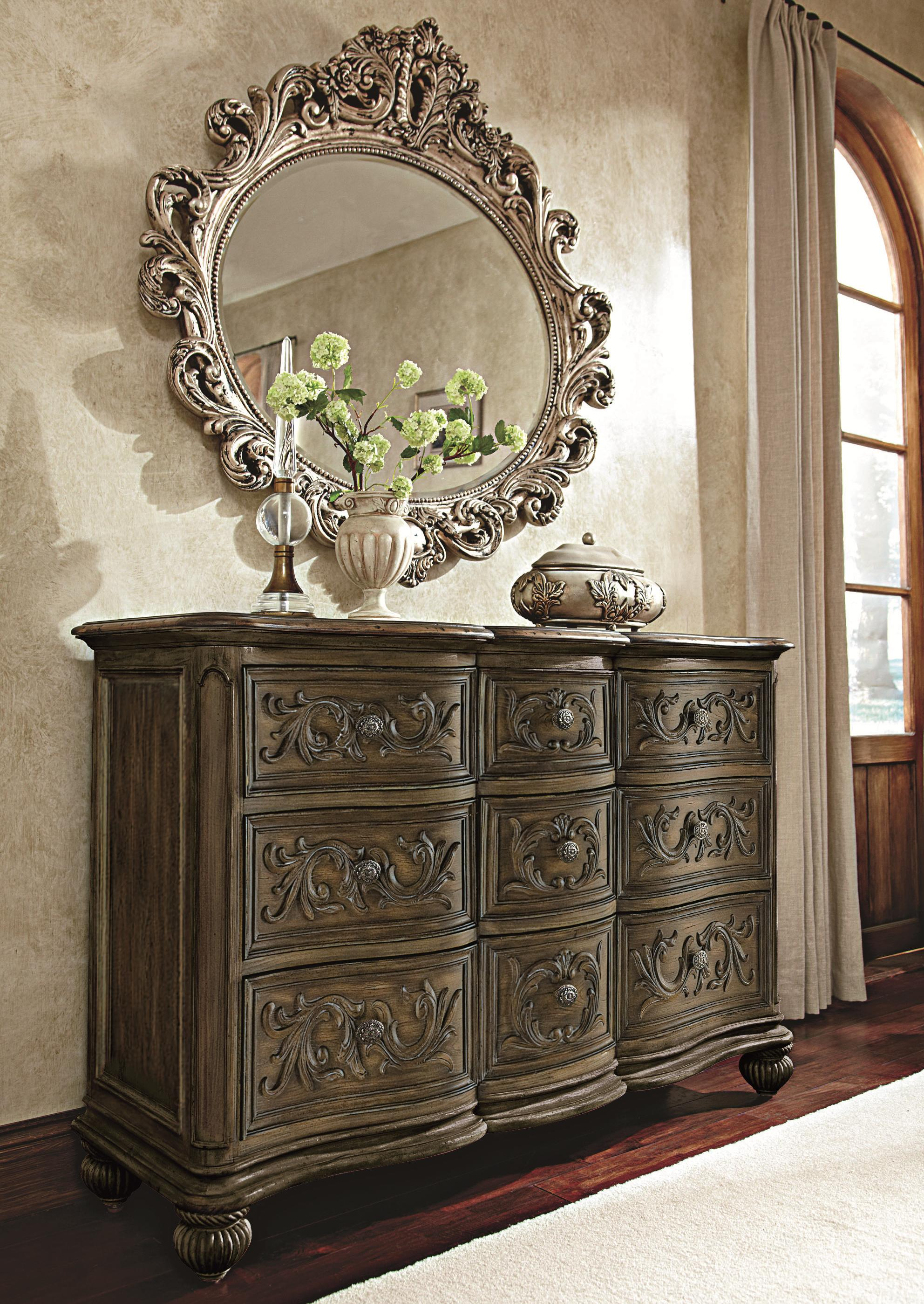 mirrors by drawer antique design combo products with hidden dresser traditional mirror furniture
