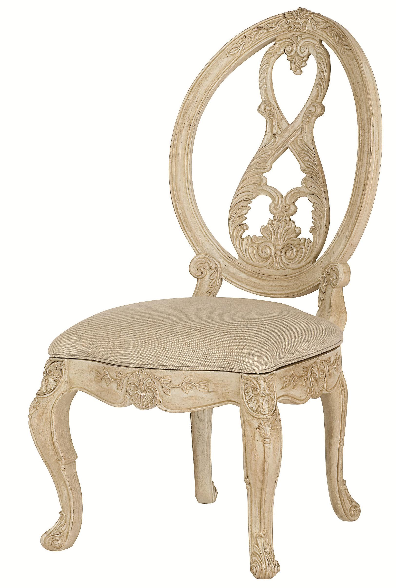 Attractive Oval Back Side Chair #13 - Splat Oval Back Side Chair With Scroll Legs