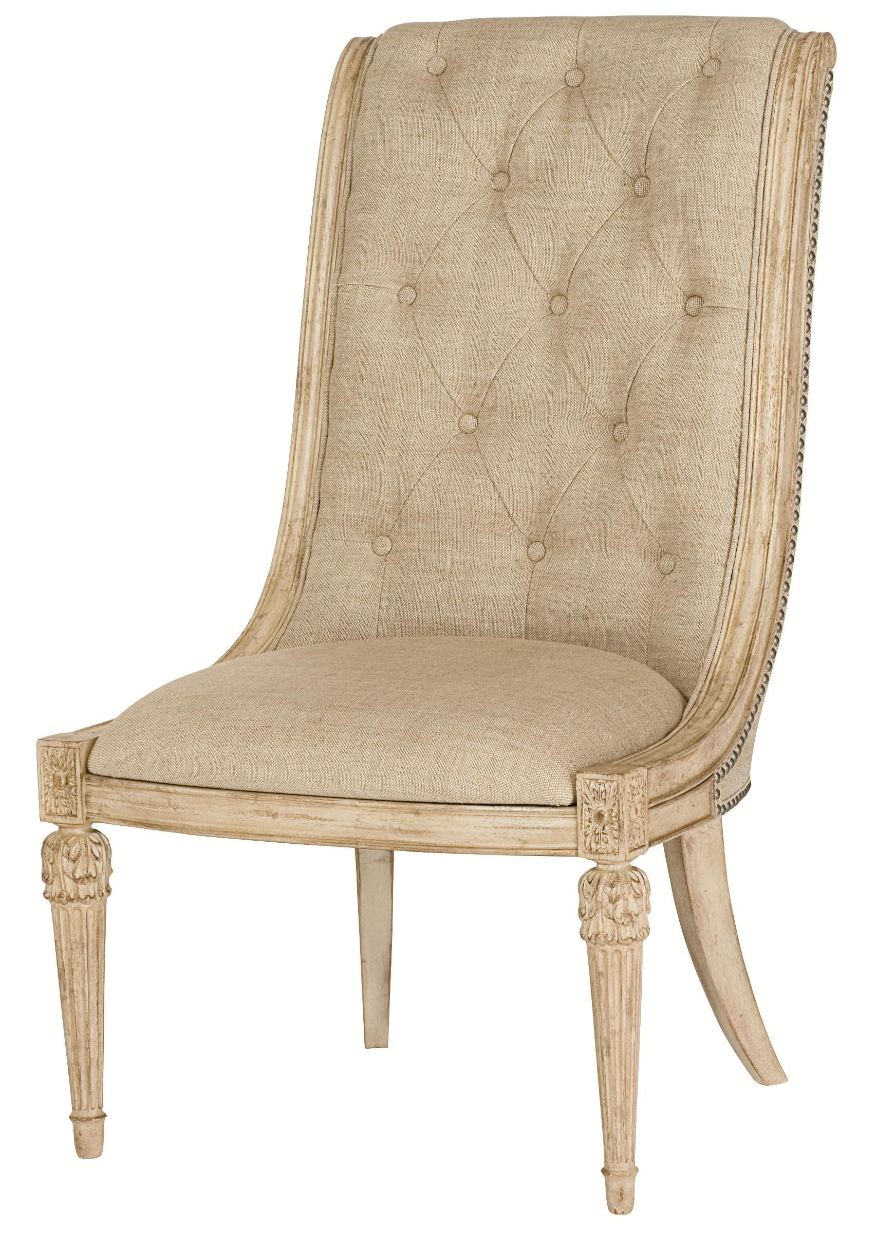 Upholstered Side Chair With Upholstered Tufted Back