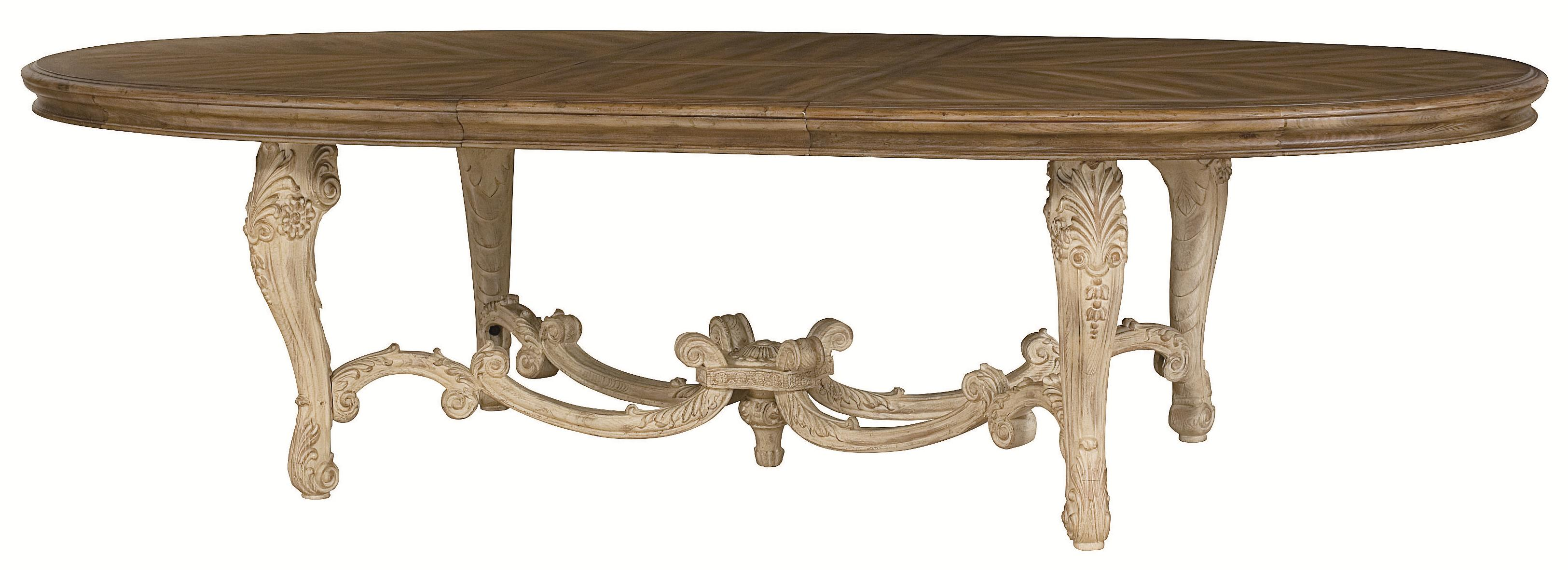 Oval Dining Table with Carved Legs & Stretchers by American Drew