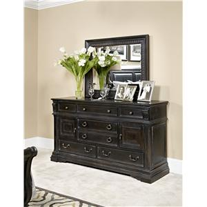 American Drew Manchester Court Dresser and Mirror Combo