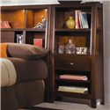 American Drew Tribecca Full Bookcase Bed with Nightstands - Detail of Bookcase Nightstand