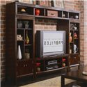 American Drew Tribecca 51-inch Entertainment Center - Shown as a wall unit with 95-inch Storage Bridge and 2 Wall Units