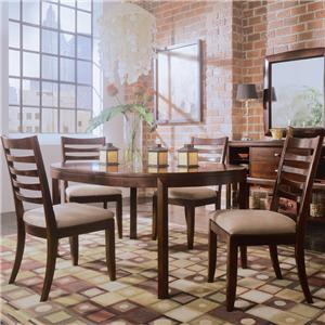 American Drew Tribecca 5-Piece Round Leg Table & Splat Chair Set