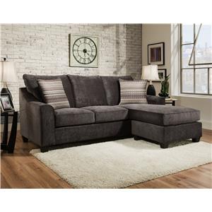 American Furniture 2957 Sofa Chaise and Storage Ottoman