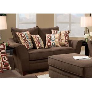 American Furniture 3850 Haskett Walnut Loveseat