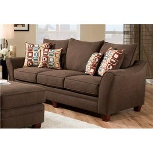 American Furniture 3850 Haskett Walnut Sofa