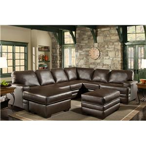 American Furniture 4700 Sectional with Right Side Chaise