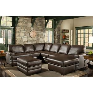 American Furniture 4700 Sectional with Left Side Chaise