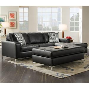 American Furniture 7400 Three Seat Sectional with Right Side Chaise
