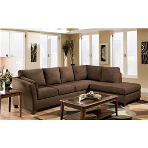 Vendor 610 7900  L Shaped Upholstered Stationary Sectional