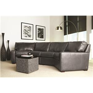 American Leather Carson Leather Sectional