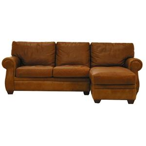 American Leather Morgan Traditional 2 Piece Sectional Sofa