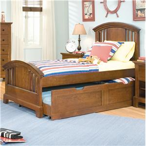 American Woodcrafters Bradford Youth Full Panel Trundle Bed