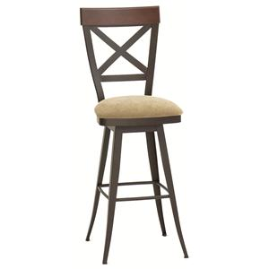 "Amisco Countryside Kyle 34"" Swivel Stool"