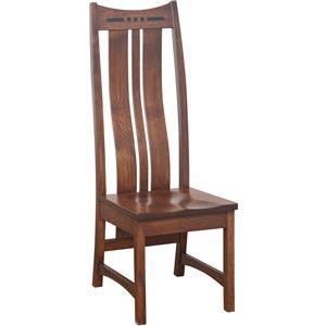 Amish Impressions by Fusion Designs Hayworth High Back Side Chair