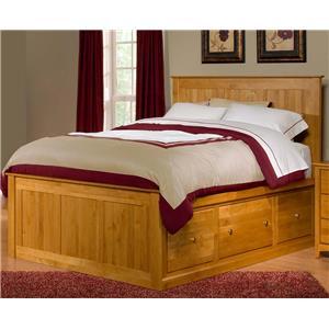 Archbold Furniture Alder Shaker Queen Flat Panel Chest Bed
