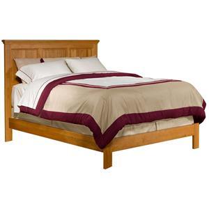 Archbold Furniture Alder Shaker Twin Raised Panel Bed