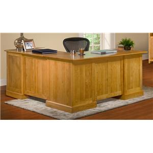 Archbold Furniture Alder Shaker L Shape Desk and Return